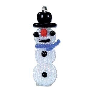 Miyuki Seed Beads - Mascot Fan KIT no. 42 - Christmas Snowman Beaded Ornament
