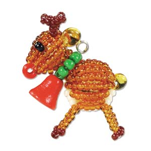 Miyuki Seed Beads - Mascot Fan KIT no. 44 - Christmas Reindeer Beaded Ornament
