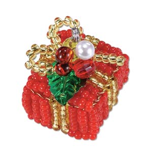 Miyuki Seed Beads - Mascot Fan KIT no. 45 - Christmas Present Beaded Ornament