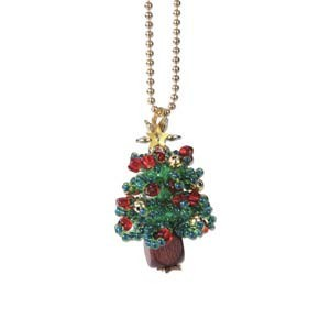 Miyuki Seed Beads - Mascot Fan KIT no. 48 - Christmas Moko Moko Tree Beaded Charm