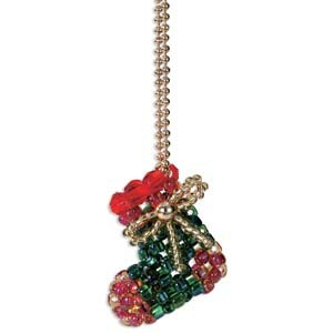 Miyuki Seed Beads - Mascot Fan KIT no. 52 - Christmas Stocking Beaded Charm