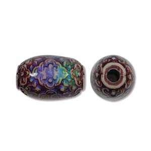 Mirage Mood Beads (Fancy) Persian Beauty 21x13mm Focal Barrel Tub x1