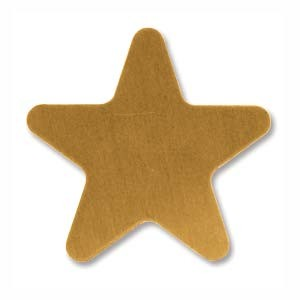 Brass Star 20mm 24g Stamping Blank x1