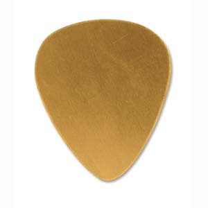 Brass Guitar Pick 30.2x25.6mm 24ga Stamping Blank x1