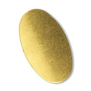 Brass Oval 24g Stamping Blank 22x12mm