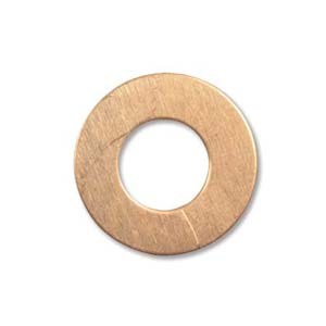 Copper Metal Stamping Blank, Washer 19mm od, 9.5mm id, 24ga x1