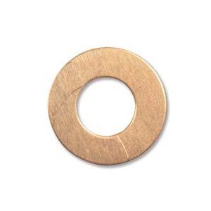 Copper Metal Stamping Blank, Washer 19mm od, 9.5mm id, 24ga x1