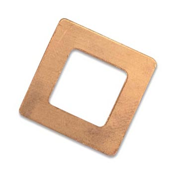 Copper Square Washer 22mm 24g Stamping Blank x1
