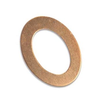 Copper Oval Washer 27x20mm od 17.5x11.8mm id 24g Stamping Blank x1