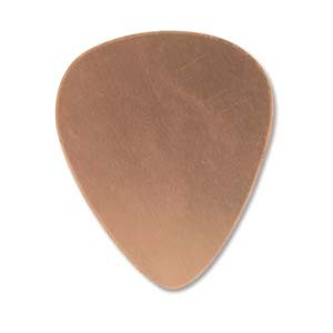 Copper Guitar Pick 30.2x25.6mm 24g Stamping Blank x1
