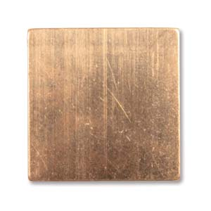 Copper Metal Stamping Blank, Square 19x19mm 24ga x1