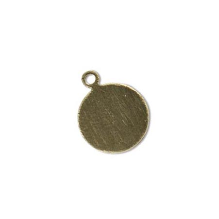 Gold Filled Circle 12.7mm 24ga Stamping Blank Charm Tag with ring x1