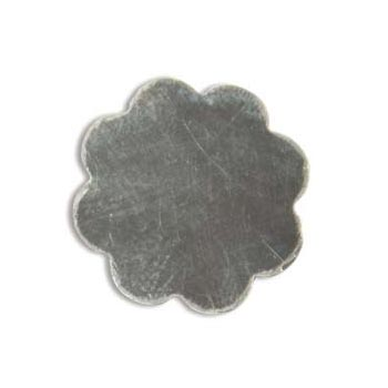 Sterling Silver 8 Petal Flower 18.5mm 20g Stamping Blank x1
