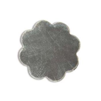 Sterling Silver 8 Petal Flower 18.5mm 20g Stamping Blank x1