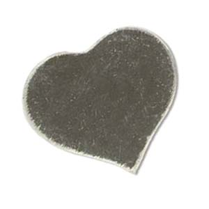 Sterling Silver Heart 24x21.5mm 20g Stamping Blank x1