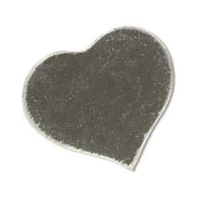 Sterling Silver Heart 24x21.5mm 24ga Stamping Blank x1