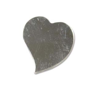 Sterling Silver Wavy Heart 22x20mm 24g Stamping Blank x1