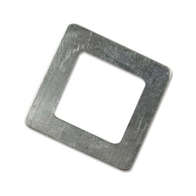 Sterling Silver Square Washer 25.4mm od 15.8mm id 22g Stamping Blank x1