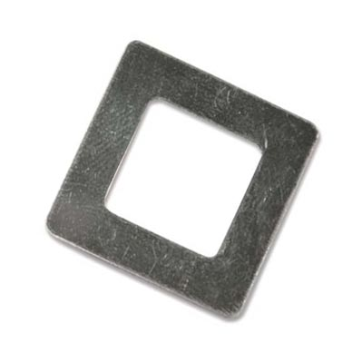 Sterling Silver Square Washer 22.1mm od 12.8mm id 22g Stamping Blank x1