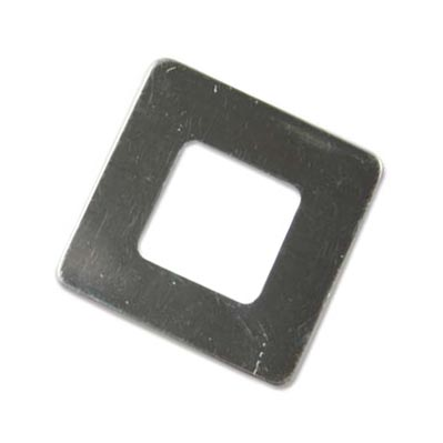 Sterling Silver Square Washer 25.5mm od 12.8mm id 22g Stamping Blank x1