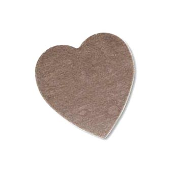 Sterling Silver Heart 18x17.5mm 24g Stamping Blank x1
