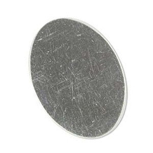 Sterling Silver Oval 28x20mm 24g Stamping Blank x1