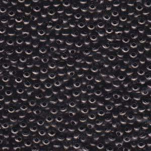 Solid Metal Seed Beads, 11/0, 2mm, Gunmetal Finish, 16 grams