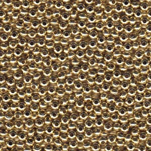 Solid Metal Seed Beads, 8/0, 3mm, Yellow Brass, 40 grams