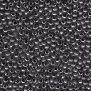 Solid Metal Seed Beads, 11/0, 2mm, Antique Zinc Finish, 14 grams