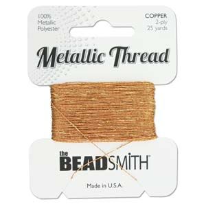 Beadsmith - Metallic Thread 2 Ply 25yds Copper