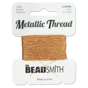 Beadsmith - Metallic Thread 2 Ply 25yds Copper
