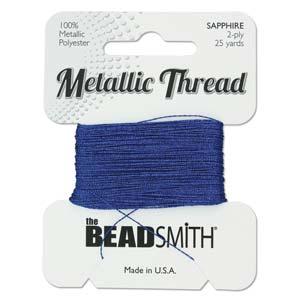 Beadsmith - Metallic Thread 2 Ply 25yds Sapphire