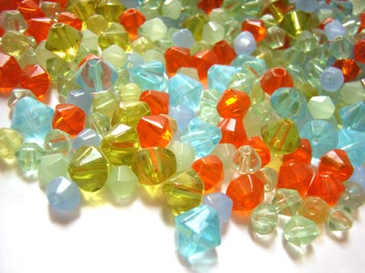 Transparent Glass Beads Bicones - Summer Burst Soup Mix 50 grams