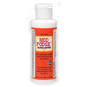 Mod Podge® Gloss-Lustré Waterbased Glue, Sealer & Finish 4oz