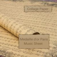 Vintage Music Sheet Ephemera Image Design, 29 x 20.5 inch (750 x 520 mm) Collage Sheet