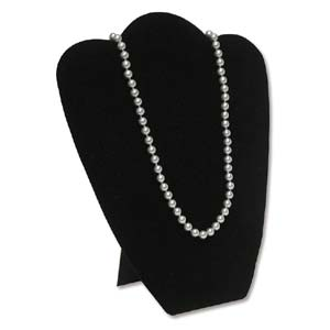 "Necklace Jewellery Display 11"" - Rounded Black Velvet"