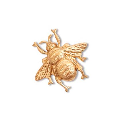 Bumble Bee Brass Stamping 18.8x17.8mm Metal Embellishment by Nunn Design