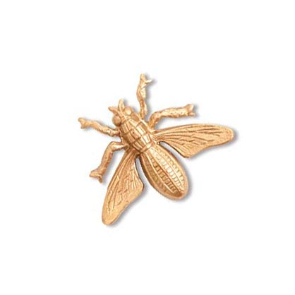 Honey Bee Brass Stamping 15x19mm Metal Embellishment by Nunn Design