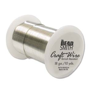 Tarnish Resistant Craft Wire - 8yds Silver - 16g