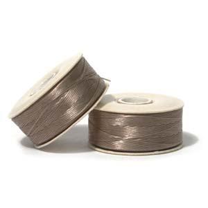 Nymo Beading Thread Sand Ash, D, 64 yds