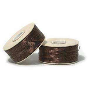 Nymo Beading Thread Brown, D, 64 yds