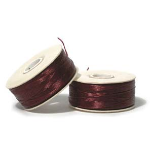 Nymo Beading Thread Burgundy, B, 72 yds