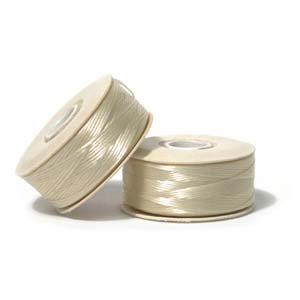 Nymo Beading Thread Cream, B, 72 yds