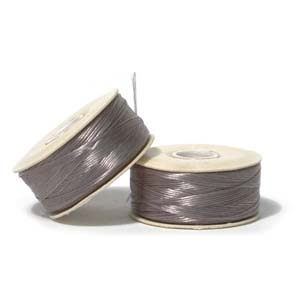 Nymo Beading Thread Grey, D, 64 yds