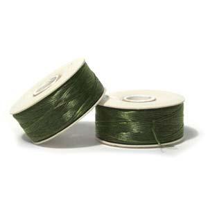 Nymo Beading Thread Olive, D, 64 yds