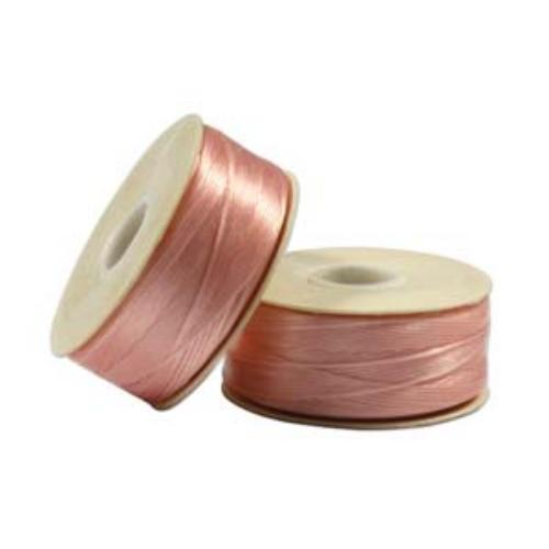 Nymo Beading Thread Pink, B, 72 yds