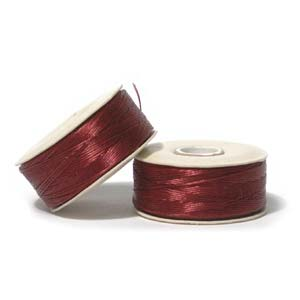 Nymo Beading Thread Red, B, 72 yds