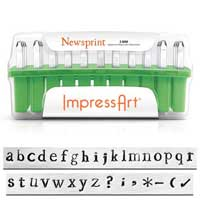 ImpressArt Standard Newsprint 3mm Alphabet Lower Case Letter Metal Stamping Set