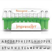 ImpressArt Standard Newsprint 3mm Alphabet Upper Case Letter Metal Stamping Set