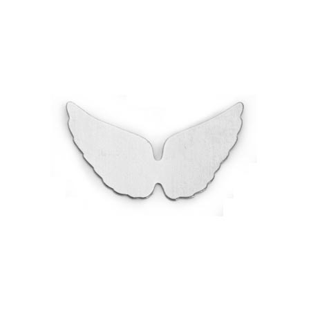 "Nickel Silver Angel Wings 24g Stamping Blank 1"" 29x16mm"